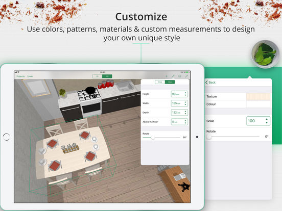 Kitchen planner decorator on the app store for Küchenplaner ipad