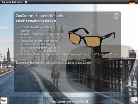 Rodenstock Sunwear App Screenshot
