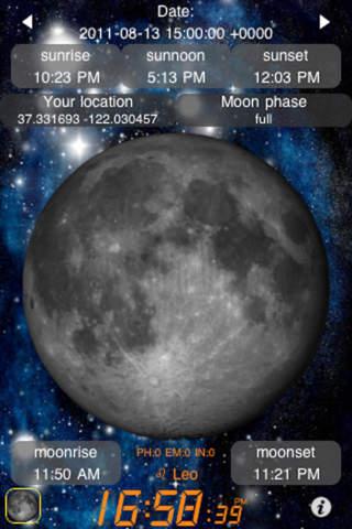 Luna calendario alba tramonto free sull app store