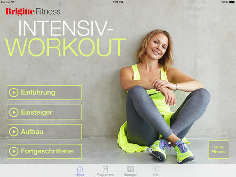 Brigitte Fitness Intensiv-Workout HD Screenshot