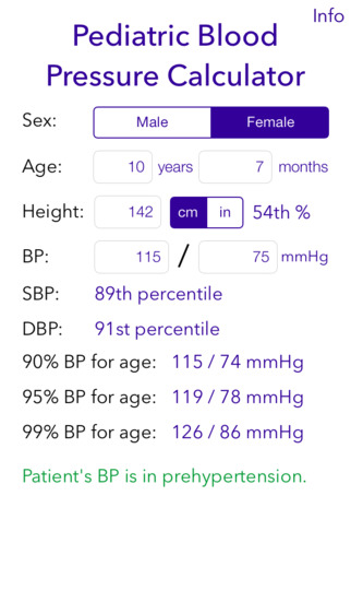 Screenshot for Pediatric BP Calculator in Denmark App Store