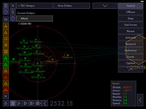 Tactical Space Command iOS Screenshots