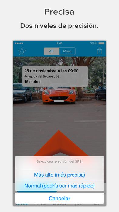 Encuentra tu coche con AR: Augmented Car Finder Screenshot