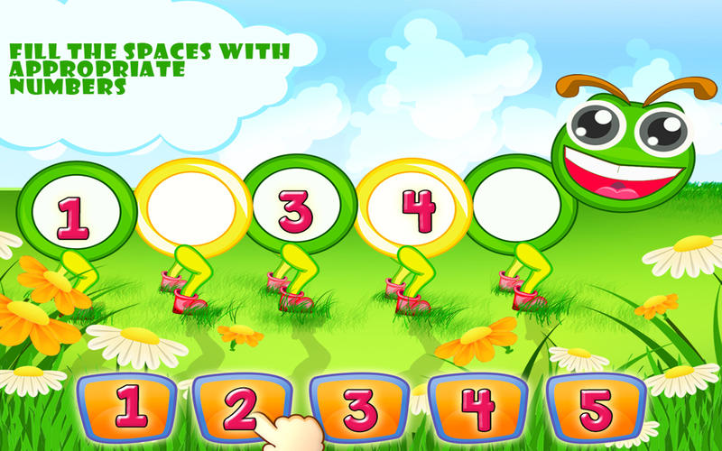 Worksheets Fill Missing Spaces With Numbers 1 -9 preschool numbers play learn on the mac app store screenshot 4