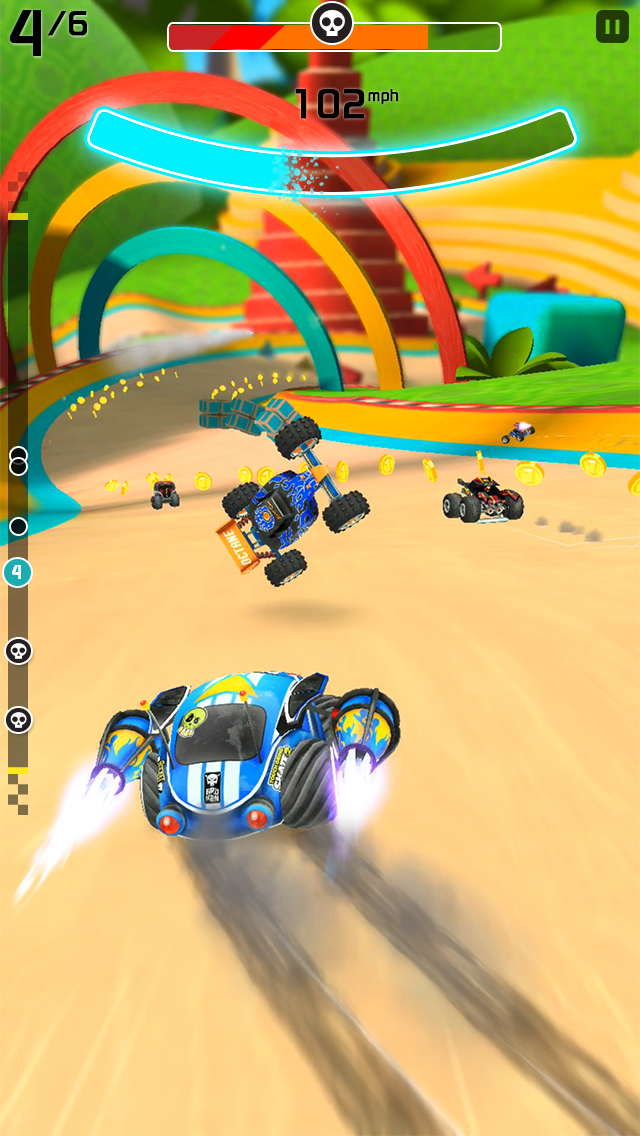 Rocket Cars iOS Screenshots