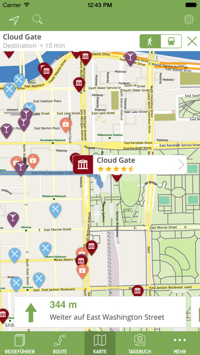 Chicago Reiseführer (Offline Stadtplan) - mTrip Screenshots