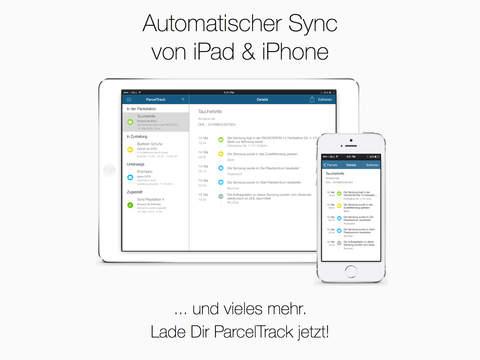 ParcelTrack - Sendungsverfolgung und Paketverfolgung für DHL, DPD, FedEx, GLS, Hermes, TNT und UPS Screenshot