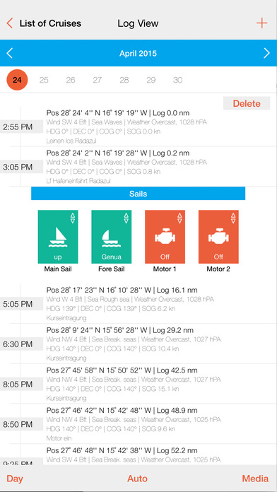 Sailbook Screenshot