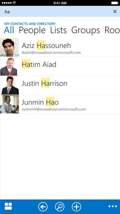 OWA for iPhone Screenshot