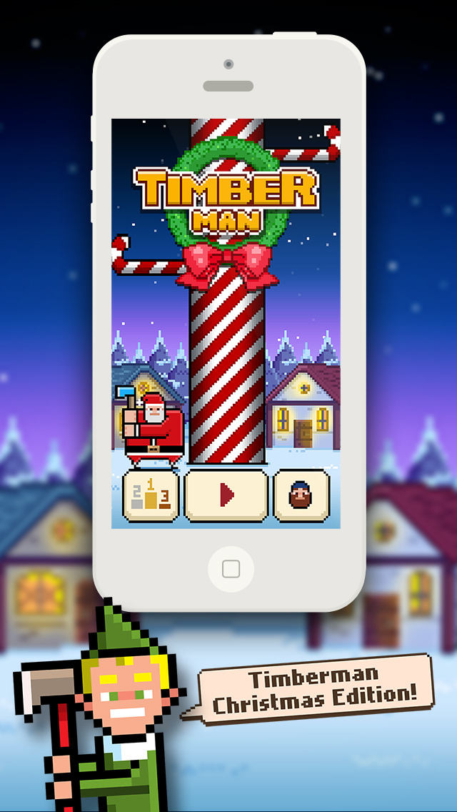 Timberman iOS Screenshots