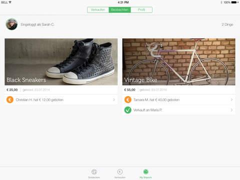 Shpock Flohmarkt & Kleinanzeigen für schöne Dinge Screenshot