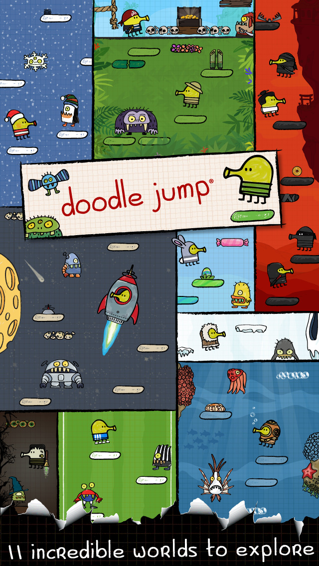 Doodle Jump - ACHTUNG: Höchste Ansteckungsgefahr! iOS Screenshots