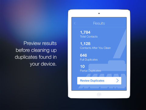 CleanUp Suite – Quickly and easily clean duplicates from your address book Screenshot