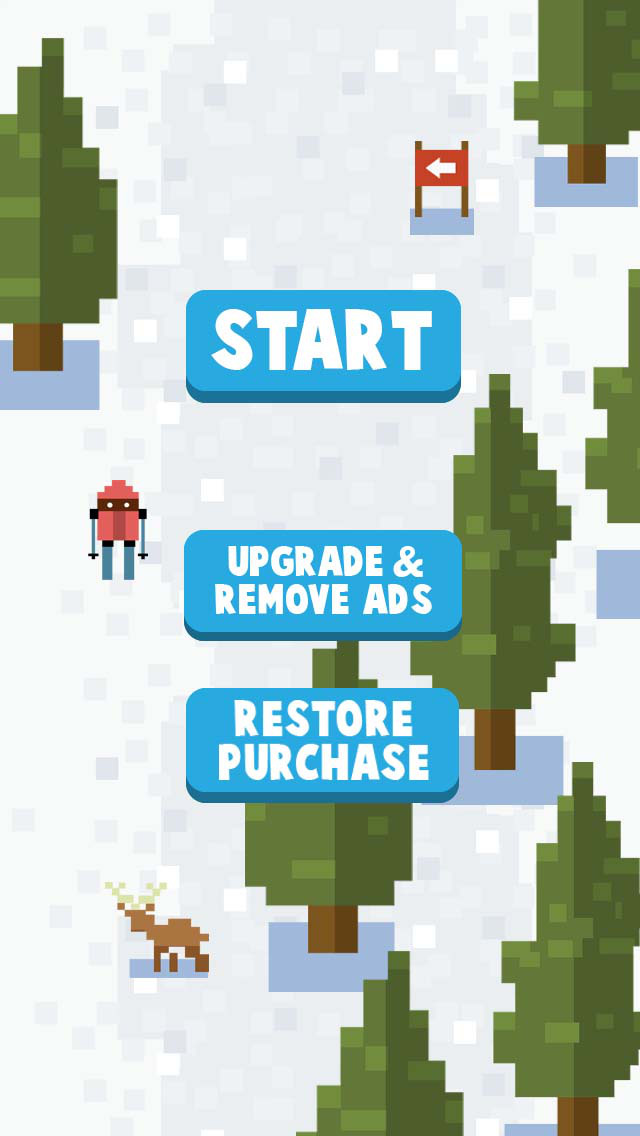 Ice Ski Downhill - Mountain High Adventure iOS Screenshots