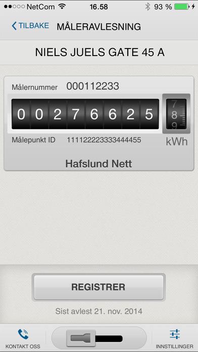 Hafslund strømavlesning