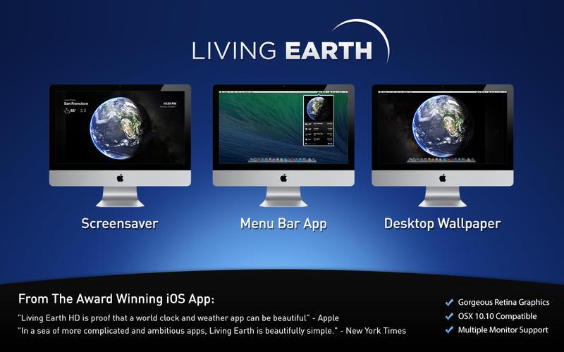 Living Earth - Desktop Weather & World Clock Screenshot