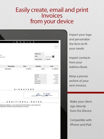 pdf rechnung app pro rechnungen abrechnung einfache im app store. Black Bedroom Furniture Sets. Home Design Ideas