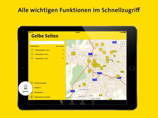 Gelbe Seiten - Ihr mobiles Branchenbuch Screenshot