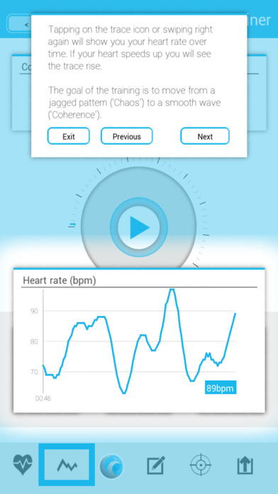 Screenshot for Coherence Heart Trainer in Belgium App Store