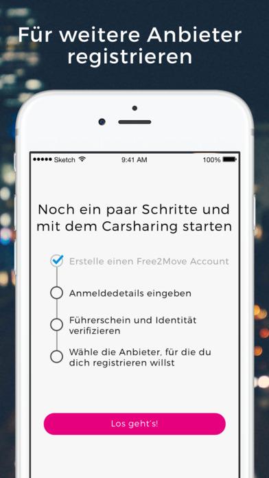 Free2Move - Die Carsharing App Screenshot