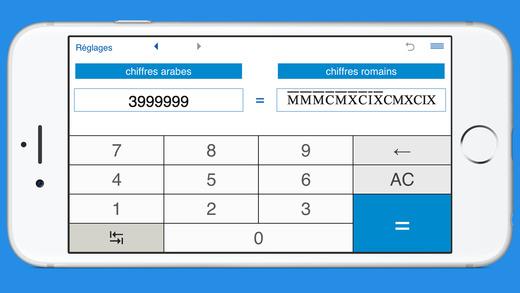 conversion des chiffres romains et chiffres arabes dans l app store. Black Bedroom Furniture Sets. Home Design Ideas