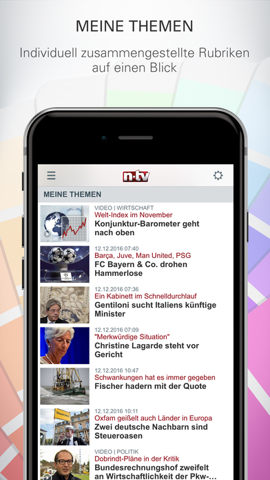 n-tv Nachrichten Screenshot