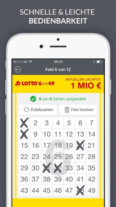 Lotto und EuroJackpot App Screenshot