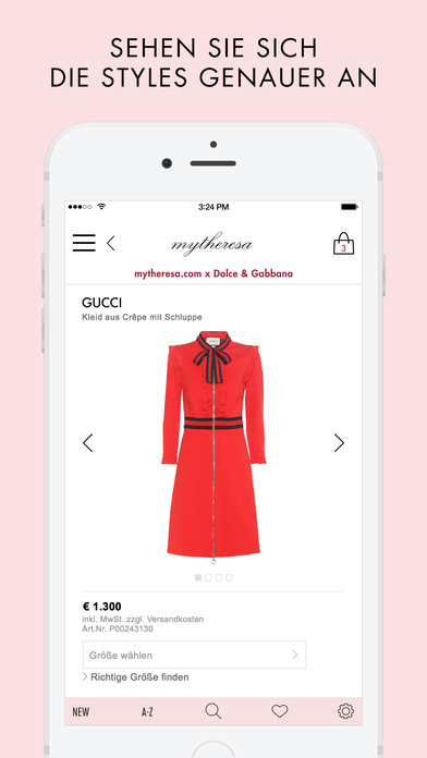 mytheresa.com shopping app Screenshot
