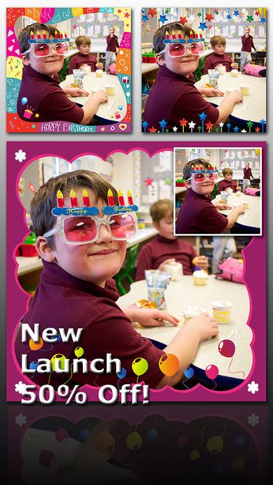 Birthday Frame - Send Wishes Ecard Screenshots