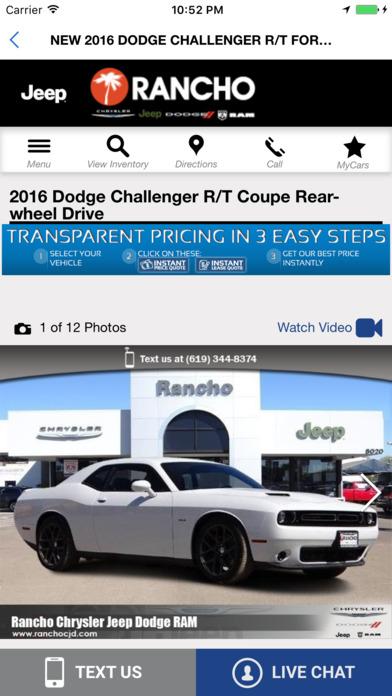 rancho chrysler dodge jeep ram dans l app store. Cars Review. Best American Auto & Cars Review
