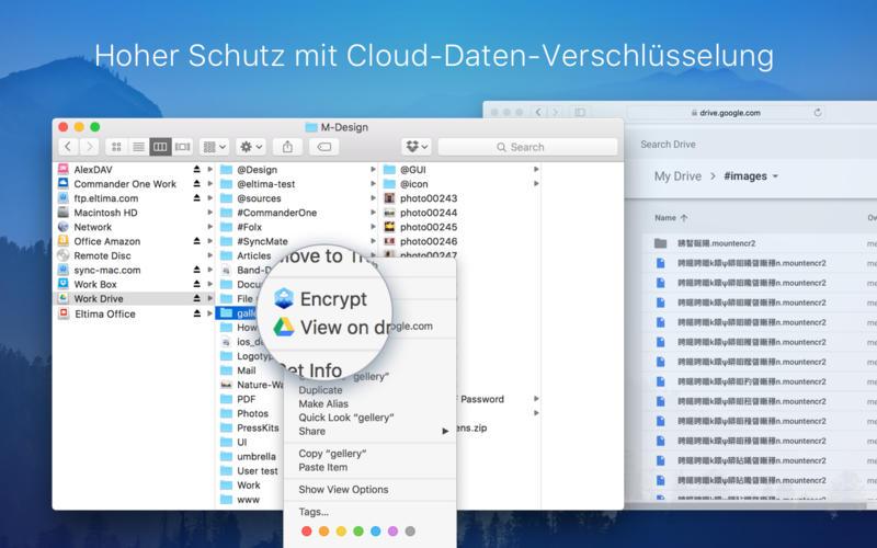 CloudMounter - verbinden Sie Cloudspeicher Screenshot