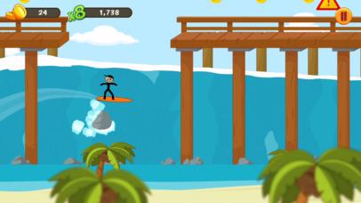 Stickman Surfer iOS Screenshots