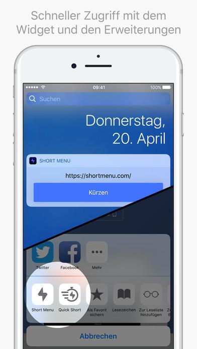 Short Menu: Leistungsstarker URL Shortener Screenshot