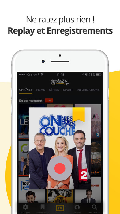 Molotov : TV en direct, replay TV, et plus... iPhone
