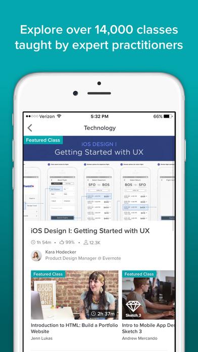 download Skillshare Online Classes appstore review