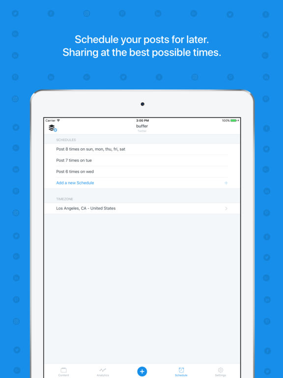 Buffer: Scheduling for Twitter, Instagram & More Screenshot
