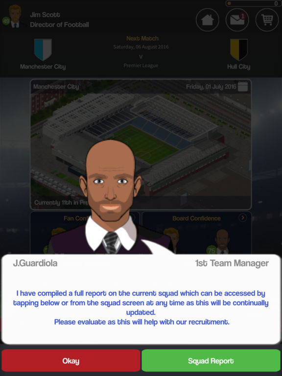 Screenshot 2 Club Soccer Director 2018