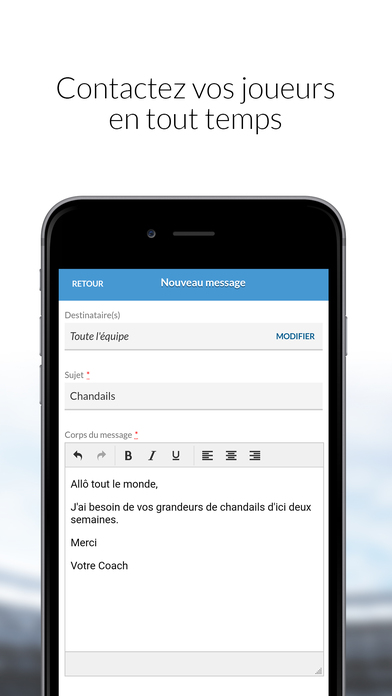 Screenshot for MonClubSportif in Spain App Store