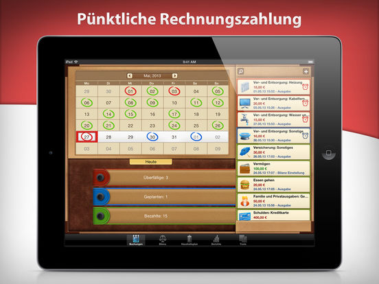 Mein Geld mit Money for iPad Screenshot