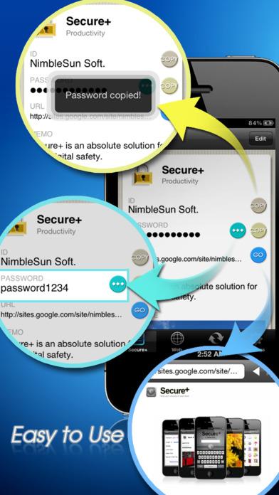 Secure+ password manager Screenshot