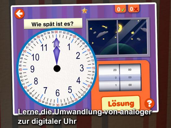 interaktiv die uhr lesen lernen lern app f252r kinder
