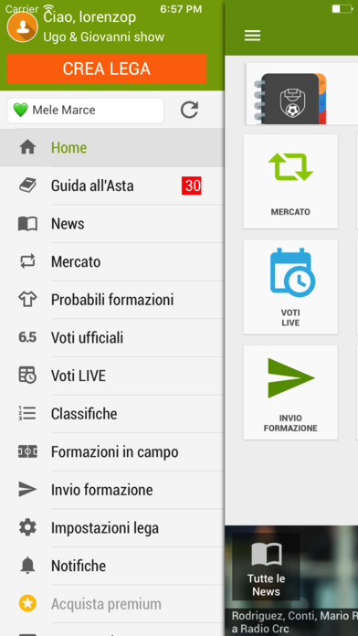 Fantapazz - Leghe & Guida Asta Fantacalcio Screenshot