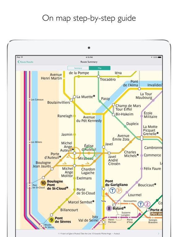 Paris Metro Map – Departures and route planner Screenshot