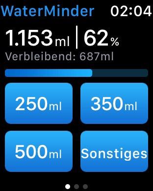 WaterMinder - Wasser Erinnerung Screenshot