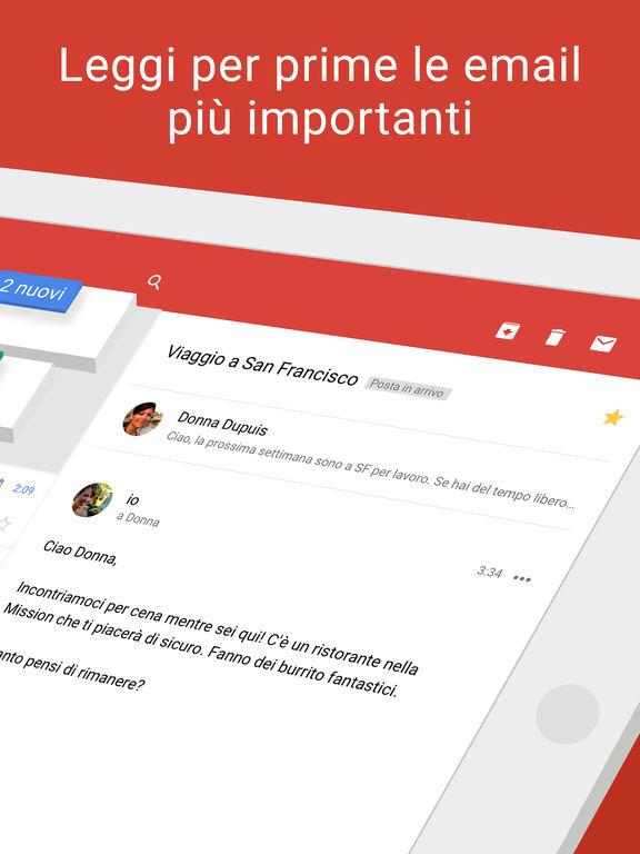 Gmail: l'email di Google Screenshot