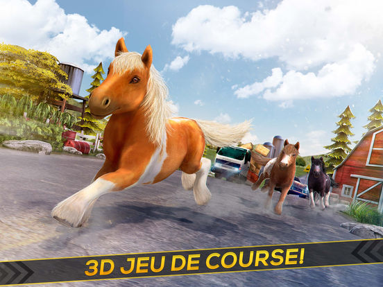 mon mignon poney jeu de course de cheval dans l app store. Black Bedroom Furniture Sets. Home Design Ideas