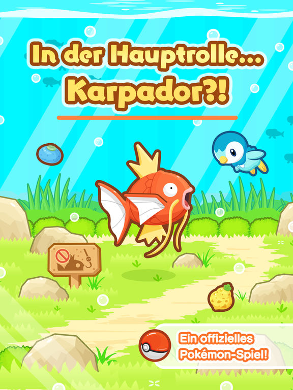 Screenshot 1 Pokémon: Karpador Jump