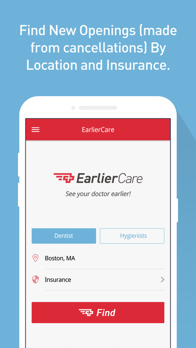EarlierCare: On Demand Dental Appointment
