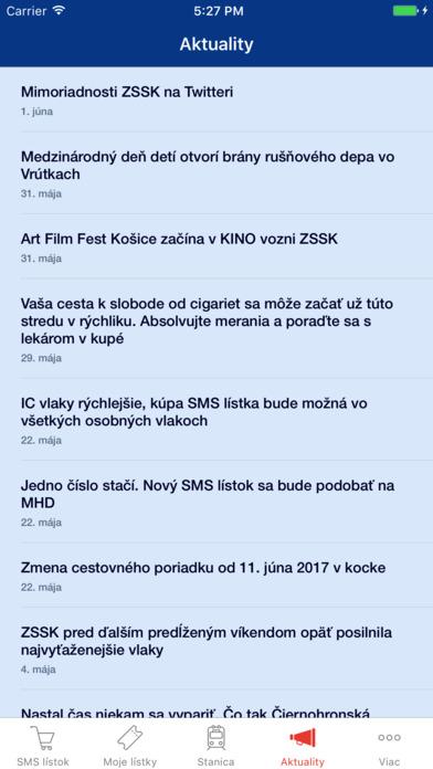 SMS Lístky - vlaky ZSSK Screenshot