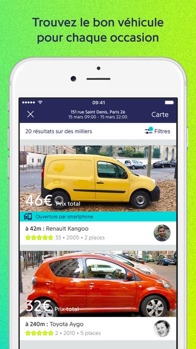 drivy location de voiture entre particuliers dans l app store. Black Bedroom Furniture Sets. Home Design Ideas
